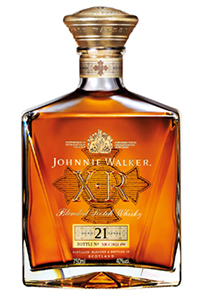 Johnnie Walker XR 21 Year Old Blended Scotch Whisky. Image courtesy Johnnie Walker/Diageo.