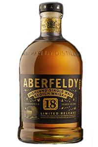 Aberfeldy 18 Year Old Single Malt. Image courtesy Dewar's/Aberfeldy.