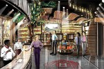 An architect's rendering of the interior of the Jim Beam Urban Stillhouse to be built in downtown Louisville, KY. Image courtesy Beam Suntory.