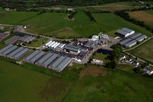 An aerial view of the Glenlivet Distillery following its 2010 expansion. Photo ©2010 by Mark Gillespie.