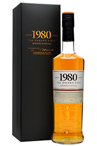 """Bowmore 1980 """"The Queen's Visit"""". Image courtesy Speciality Drinks, Ltd/The Whisky Exchange."""
