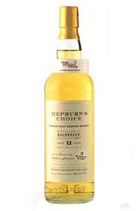 Hepburn's Choice Balmenach 12 Single Malt. Image courtesy Hunter Laing & Co.