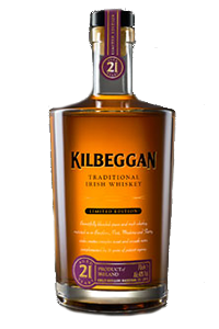 Kilbeggan 21 Year Old Irish Whiskey. Image courtesy Kilbeggan/Beam Suntory.