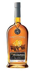 Forty Creek Evolution Canadian Whisky. Image courtesy Forty Creek/Campari.