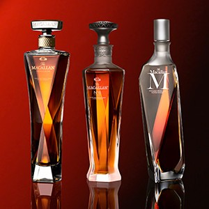 The Macallan 1824 Masters Series, with the new Reflexion (L) and No. 6 (C) joining the range with The Macallan M (R). Image courtesy Edrington.