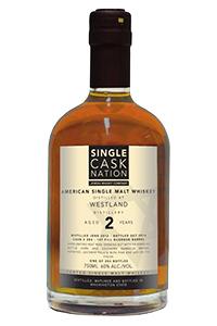 Single Cask Nation's Westland 2 Year Old Single Malt. Image courtesy Jewish Whisky Company.