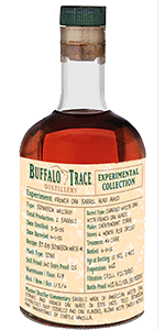 Buffalo Trace Experimental Collection French Oak Barrel Head Aged Bourbon. Image courtesy Buffalo Trace.
