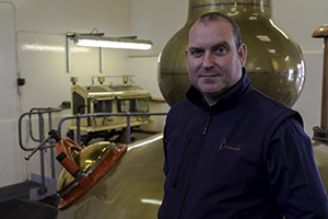 Benromach Distillery's Keith Cruickshank. Photo ©2015 by Mark Gillespie.