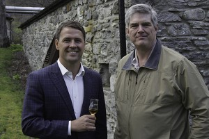 Michael Owen (L) and WhiskyCast's Mark Gillespie following an interview at Speyside Distillery May 4, 2015. Photo ©2015 by Mark Gillespie.