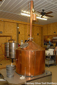 The Revenoor Stills-built still that exploded at Silver Trail Distillery on April 24, 2015. Photo courtesy Silver Trail Distillery.
