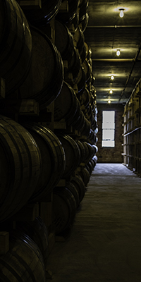 A warehouse at Buffalo Trace Distillery in Frankfort, Kentucky. Photo ©2015 by Mark Gillespie.