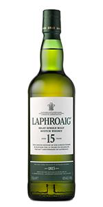 Laphroaig 15 Year Old Islay Single Malt. Image courtesy Laphroaig/Beam Suntory.