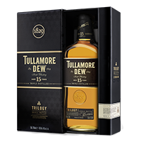 The Tullamore D.E.W. Trilogy Irish Whiskey. Image courtesy Tullamore D.E.W./William Grant & Sons.