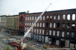 Louisville firefighters at the scene of the Whiskey Row fire July 7, 2015. Photo courtesy Fred Minnick.