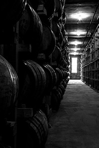 A Bourbon warehouse at Kentucky's Buffalo Trace Distillery. Photo ©2015 by Mark Gillespie.