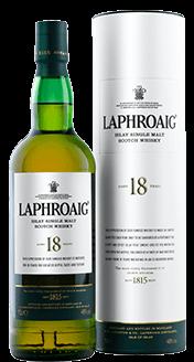 Laphroaig 18 Single Malt Scotch Whisky. Image courtesy Beam Suntory.