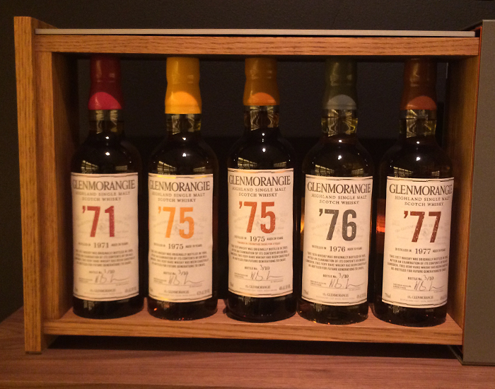 The Glenmorangie 1970's Collection. Photo ©2015 by Mark Gillespie.