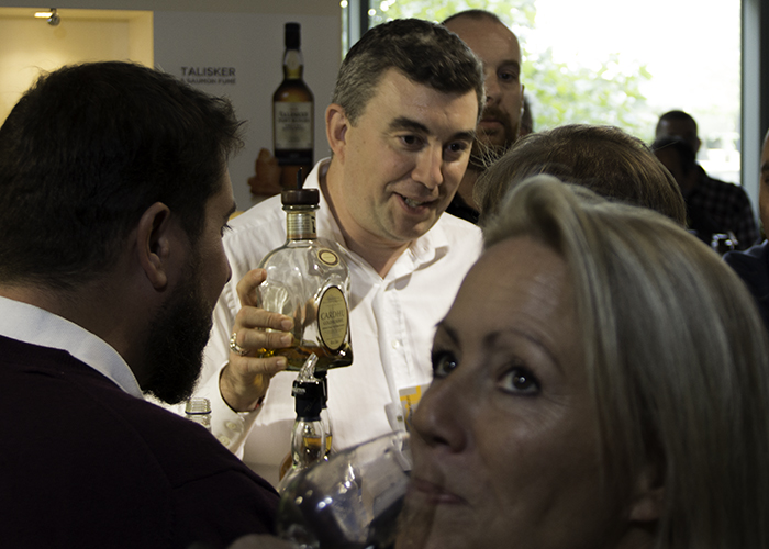 Emmanuel Blondel demonstrated whisky and food pairings at Whisky Live Paris. Photo ©2015 by Mark Gillespie.