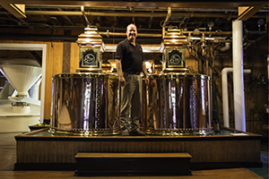 Maker's Mark Master Distiller Greg Davis in the still house. Photo ©2015 by Mark Gillespie.