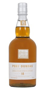 The Port Dundas 18 Year Old Single Grain Scotch Whisky. Image courtesy Diageo.