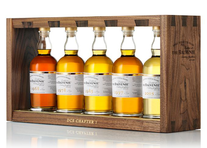 The first series of The Balvenie DCS Collection. Image courtesy William Grant & Sons.