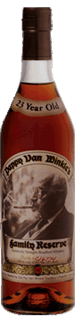 Pappy Van Winkle's Family Reserve 23 Year Old Bourbon. Image courtesy Old Rip Van Winkle Distillery.
