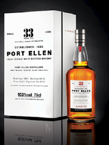 Diageo's Port Ellen 33 Year Old Travel Retail release. Image courtesy Diageo.
