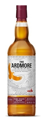 Ardmore Port Wood Finish Scotch Whisky. Image courtesy Beam Suntory.