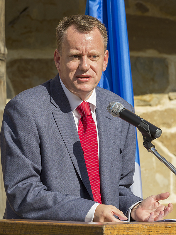 Scotch Whisky Association Chief Executive David Frost during an October, 2015 speech at Mount Vernon in Virginia. File Photo ©2015, Mark Gillespie/CaskStrength Media.
