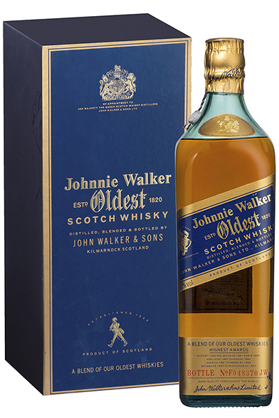 An original bottle of Johnnie Walker Oldest from the 1980's. Image courtesy Diageo.
