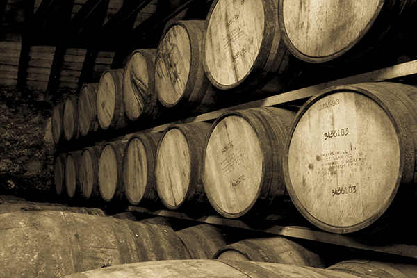 Barrels of Scotch Whisky maturing at Glenmorangie Distillery in Tain, Scotland. Photo ©2012 by Mark Gillespie.
