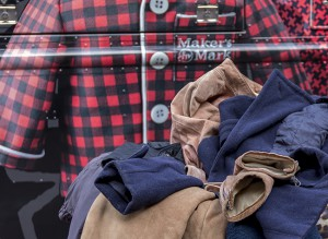 "Coats donated during the Maker's Mark ""Give Cozy, Get Cozy"" coat drive in Philadelphia December 13, 2015. Photo ©2015 by Mark Gillespie."