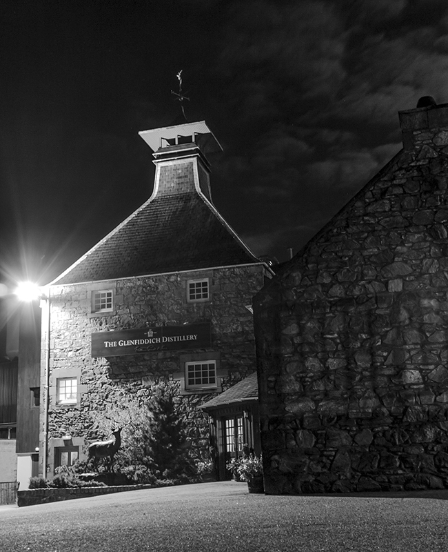 The Glenfiddich Distillery in Dufftown, Scotland. Photo ©2015 by Mark Gillespie.