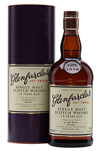 Glenfarclas 15 103º Proof. Image courtesy Speciality Drinks Ltd./The Whisky Exchange.