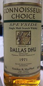 Gordon & MacPhail Connoisseur's Choice 1971 Dallas Dhu. Photo ©2015 by Mark Gillespie.