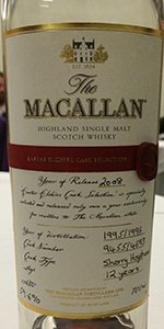 The Macallan Easter Elchies Cask Selection 2008. Photo ©2015 by Mark Gillespie.