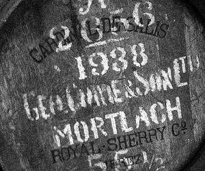 This 1938 Mortlach cask produced the Gordon & MacPhail 70-year-old Mortlach released in 2010. Photo ©2010 by Mark Gillespie.