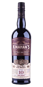 Kinahan's Single Malt Irish Whiskey. Image courtesy Kinahan's Irish Whiskey Co./The Winebow Group.