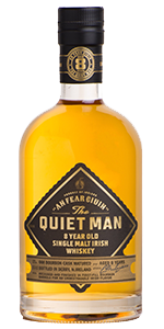 The Quiet Man Single Malt Irish Whiskey. Image courtesy Niche Drinks/Luxco.