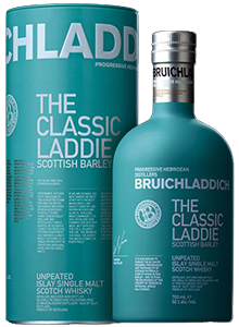 Bruichladdich's The Classic Laddie whisky. Image courtesy Bruichladdich.