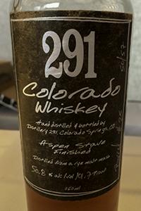 291 Colorado Whiskey. Photo ©2016, Mark Gillespie.