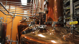 The stills at Heaven Hill's Evan Williams Bourbon Experience in Louisville, Kentucky. Photo ©2014 by Mark Gillespie.