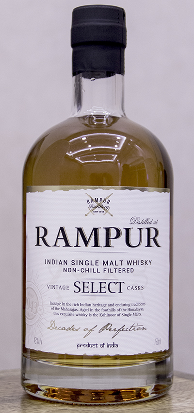 Rampur Indian Single Malt Whisky. Photo ©2016, Mark Gillespie.