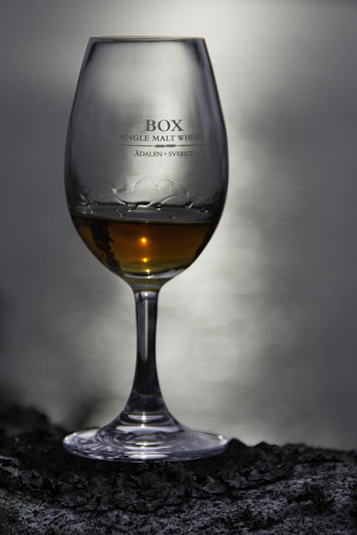 A glass of Box single malt whisky from Sweden. Photo ©2016, Mark Gillespie/CaskStrength Media.