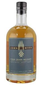 John Myer Four Grain Whiskey. Image courtesy Myer Farm Distillery.