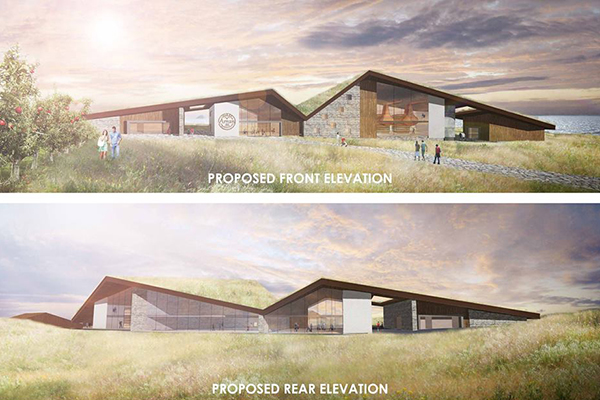 Architect's renderings of the new Lagg Distillery on the Isle of Arran. Images courtesy Isle of Arran and Denham/Benn Architects.