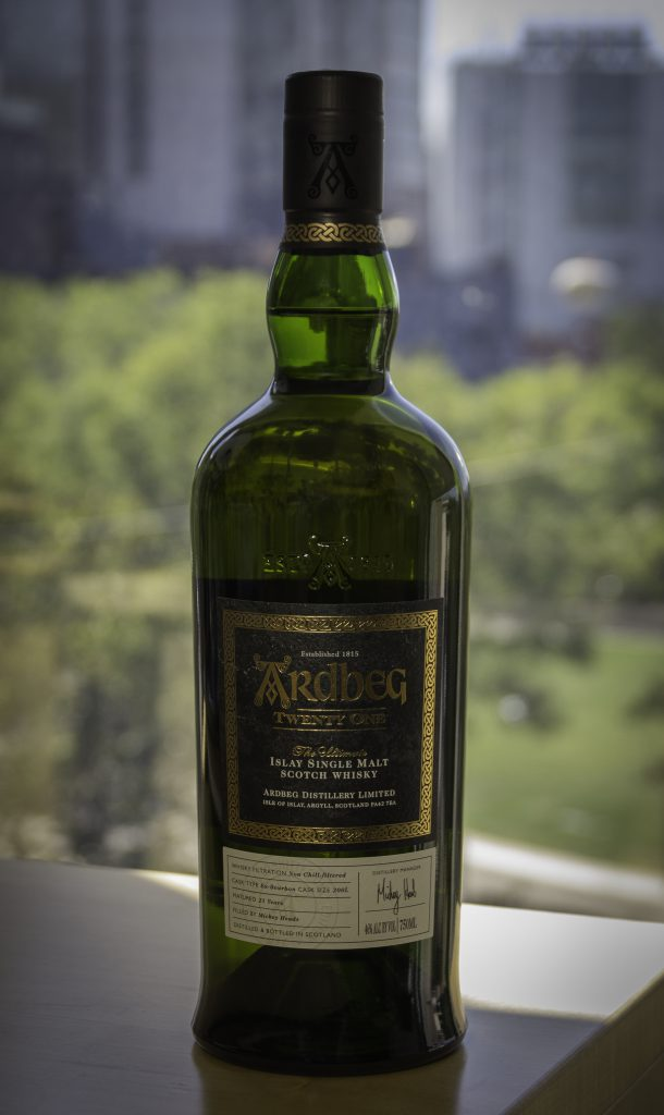 The Ardbeg 21 Islay Single Malt Scotch Whisky. Photo ©2016, Mark Gillespie, CaskStrength Media.