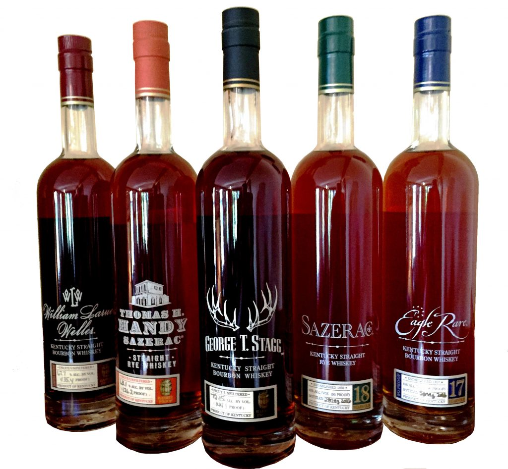 Buffalo Trace's 2016 Antique Collection. Image courtesy Buffalo Trace.