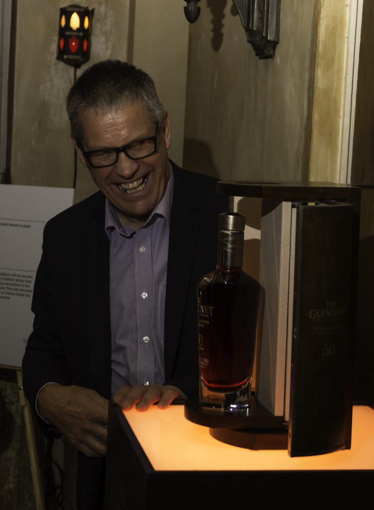 The Glenlivet's Alan Winchester unveils the 1966 Winchester Collection single malt September 29, 2016 in New York City. Photo ©2016, Mark Gillespie, CaskStrength Media.