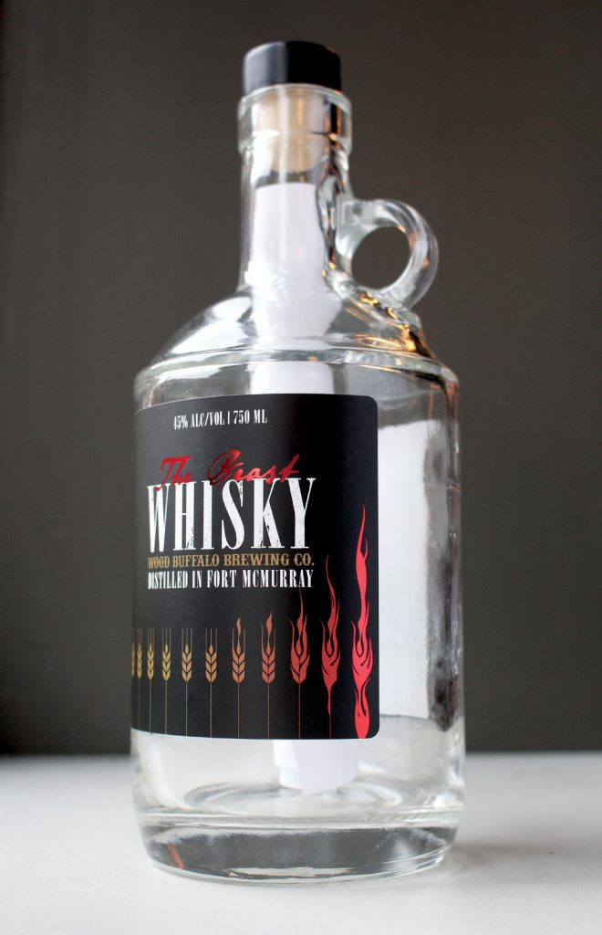 "Wood Buffalo Brewing's ""The Beast"" whisky. Image courtesy Wood Buffalo Brewing Company."